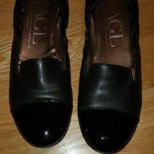 AGL leather slip ons 39.5